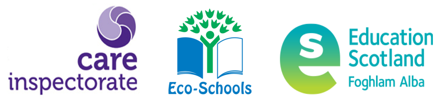 Care Inspectorate, Eco Schools and Education Scotland logos